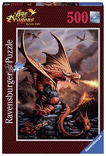 Ravensburger 14747 - Puzzle 500 Pezzi, Anne Stockes: Drago Ardente