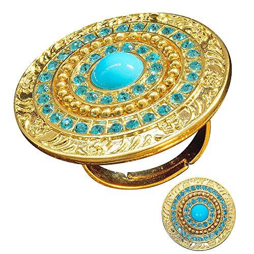 WIDMANN Anillo Cleopatra con engaste de oro y piedras turquesas