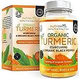 Turmeric - Cúrcuma orgánica 600mg, con Curcumina y Bioperina, 120cápsulas vegetarianas certificadas y orgánicas, fabricadas en Reino Unido