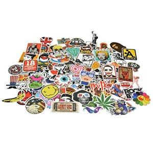 Willingood Aufkleber 200 Stuck Wasserdicht Vinyl Stickers Graffiti Style Decals fur Auto Motorrader Fahrrad Skateboard Snowboard Gepack Laptop Aufkleber MacBook iPad und mehr 15