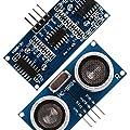 Innovateking-EU 5pcs HC-SR04 kit sensore di distanza a ultrasuoni con 5pcs giallo Cartoon staffa di montaggio per servo Arduino UNO MEGA R3 Smart auto progetti di robotica