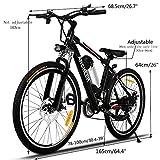 """Lonlier Vélo électrique Homme VTT 25"""" Montagne Batterie Lithium ION 36V 8Ah 21 Vitesses 25-35km/h (EU Stock)"""