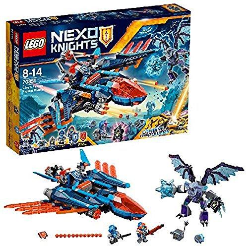 LEGO Nexo Knights - Halcón-Bláster de Combate de Clay, Set de Construcción con Avión y Monstruo de Piedra de Juguete (70351)