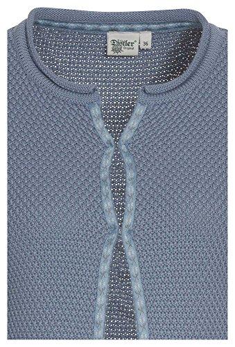 DISTLER Damen-Strickjacke mit Perlmuster Trachtenjacke,Trachten-Strickjacke, Janker, blau,38 -