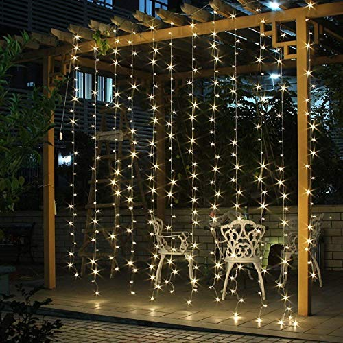 Salcar Cascata luminose per Finestra Balcone 6 x 3m 600er LED String Impermeabile 8 Modalità,...