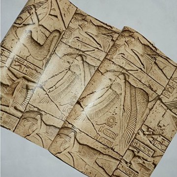 HEYUN& Egipto Modelo del papel pintado imitación talla personajes reales gráfico arte de la pared del cine y la televisión 5