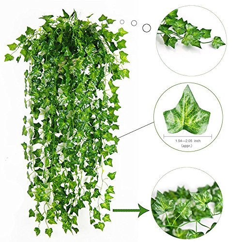 Lierre Artificielle Plantes Guirlande Vigne - Attvn 12 Pcs 84 Ft ...