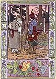Manga BILIBIN Baba Yaga c1902 250gsm cuadro decorativo brillante A3 de póster