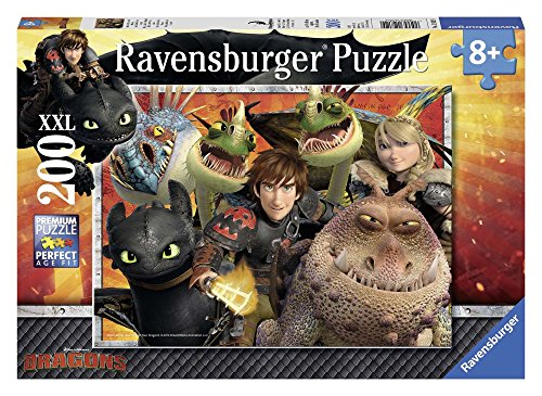 Ravensburger 12812 9 - Dr Dragons Puzzle Super, 200 Pezzi, Cartone