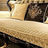 GIEODKWKM Funda de sofá Funda de sofá de Felpa Encaje Vintage Suede Funda para sofá Resbalón de Invierno Cuatro Estaciones Cojín de Cuero Europeo-B 70x70cm(28x28inch)
