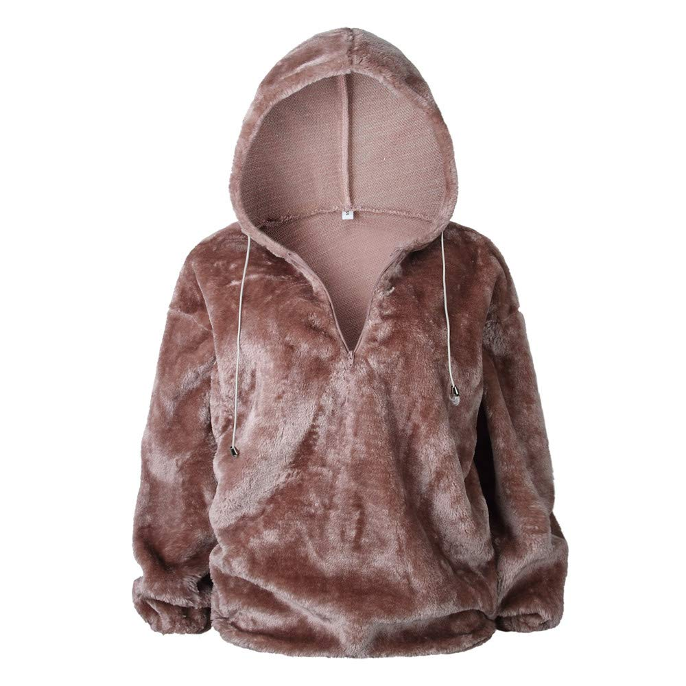 HOMEBABY Ladies Winter Hooded Sweater Fluffy Coat for Women Sale Long  Sleeve Chunky Jumper Long Sweatshirt Warm Pullover Tops Blouse. 🔍. £9.96  ... 04ab6ea2d