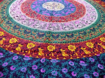 Craftozone Tapiz para Pared, diseño Indio de Mandala, algodón 5