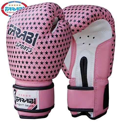 Guantoni da boxe bambini Junior 4 oz Pad rosa sacchetto di perforazione Mitt MMA scossa Guanti...