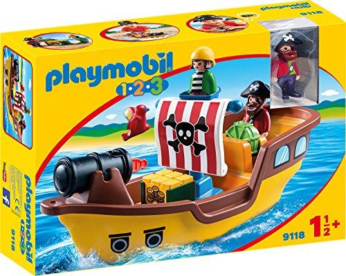 PLAYMOBIL 1-2-3(9118) - Piratenschiff