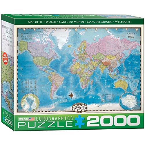 Eurographics Map of the World, EG82200557, Puzzle, 2000 pezzi