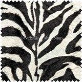 Piel suave piel de imitación Animal de la cebra cadorabo cojín Material de tapicería manualidades con tela de la cortina