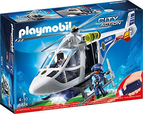 PLAYMOBIL 6874 - Polizei-Helikopter mit LED-Suchscheinwerfer