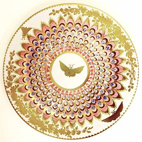ashm olean Platos, diseño de mariposas, lacado, esmaltado, para picnic y camping, color dorado