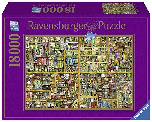 Ravensburger Italy Colin Thompson Magical Bookcase Puzzle, 18000 Pezzi, Multicolore, 17825