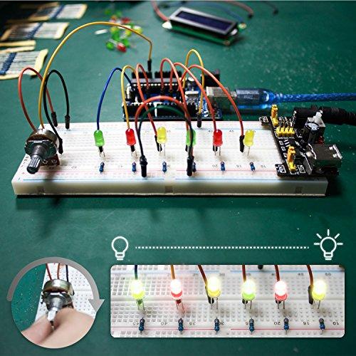 61yD5IPfFvL - Smraza Conjunto Medio a UNO para Arduino con Tutorial y Conjunto de UNO R3,Relé de 5V,Modulo de Fuente de Alimentación,Servomotor, LCD1602 para Arduino Mega 2560 Nano UNO R3