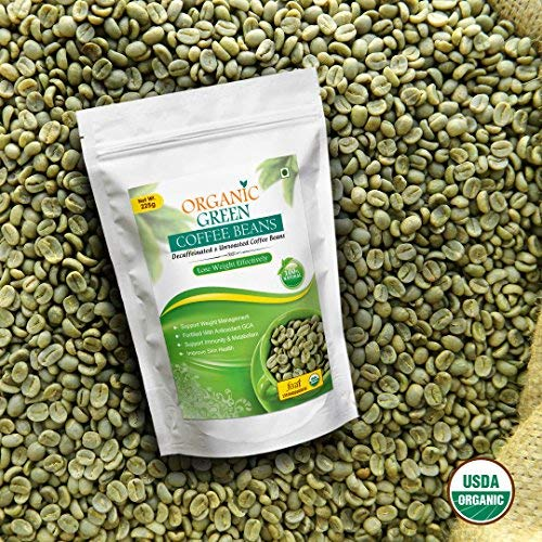 Vokin Biotech Organic Green Coffee Beans Decaffeinated & Unroasted Arabica Coffee for Weight Management 200g + 25g Free 7