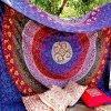 Craftozone Tapiz para Pared, diseño Indio de Mandala, algodón 1