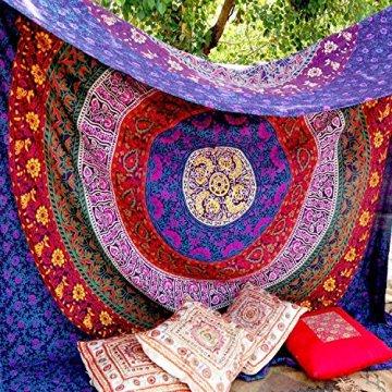 Craftozone Tapiz para Pared, diseño Indio de Mandala, algodón 3