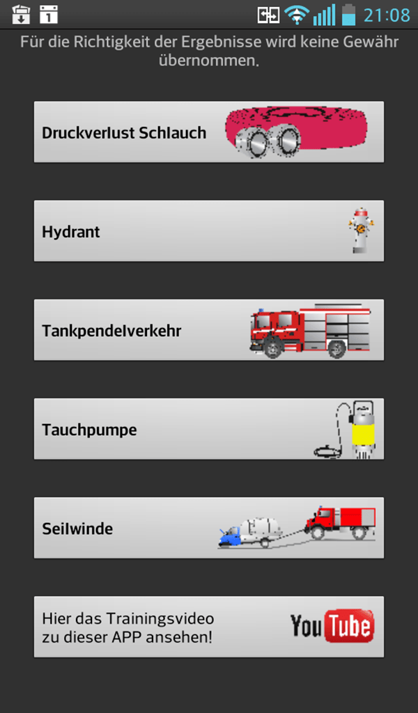 FireFighter CalcTool Screenshot