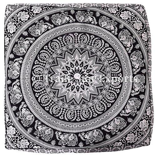 Cuscino indiano grande pavimento in cuscino, cuscino quadrato Mandala, cuscino meditazione, cuscino...