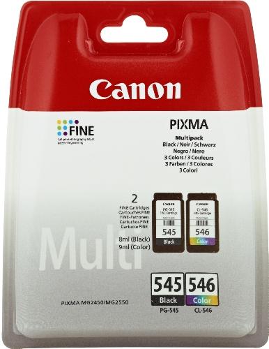 Canon PG-545/CL-546 Cartuccia Originale Getto d'Inchiostro, 2 Pezzi, Nero + Colore