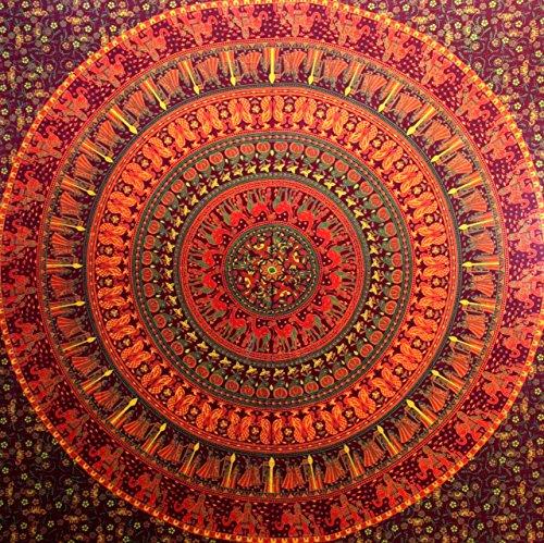 Camel Elephant Mandala Tapestry Hippie Tapestry Mandala Tapestry Wall Hanging Wall Decor Home Decor...