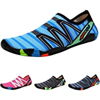 QIMAOO Barefoot Skin Water Shoes Socks, Men Women Quick Dry Water Sport Shoes, Unisex Aqua Shoes for Swim Surf Yoga Beach Running Boating Snorkeling Diving