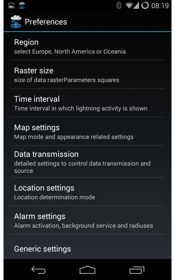 Blitzortung Lightning Monitor Screenshot