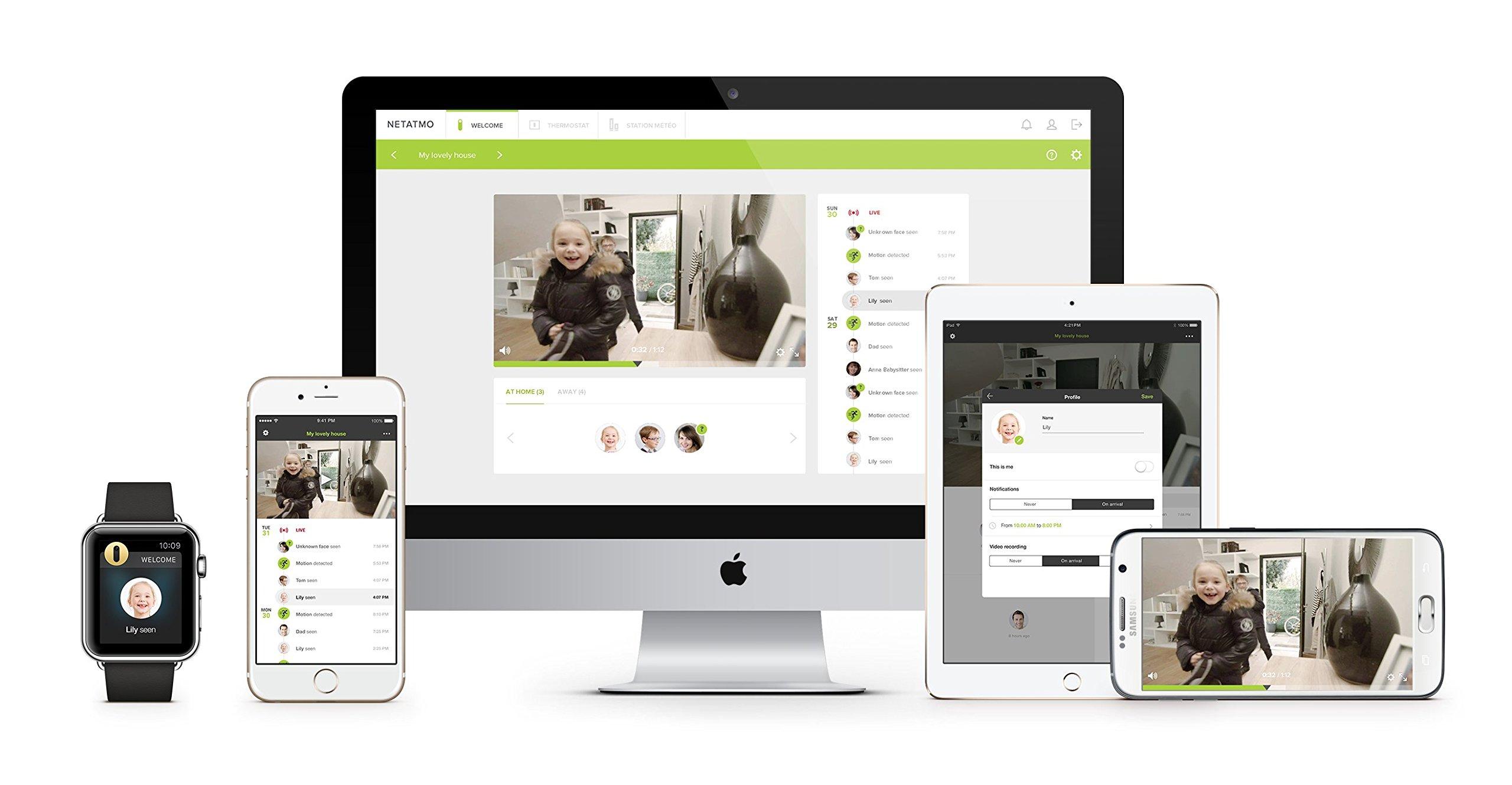 Netatmo Caméra de Surveillance Intérieure Intelligente, WIFI, Détection Des Mouvements, Vision Nocturne, Aucun Abonnement, NSC01-EU (Welcome)