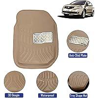 Kingsway 3D / 4D Car Floor Mats for Maruti Suzuki SX4 (Model Year : 2007-2013) (Beige Color)