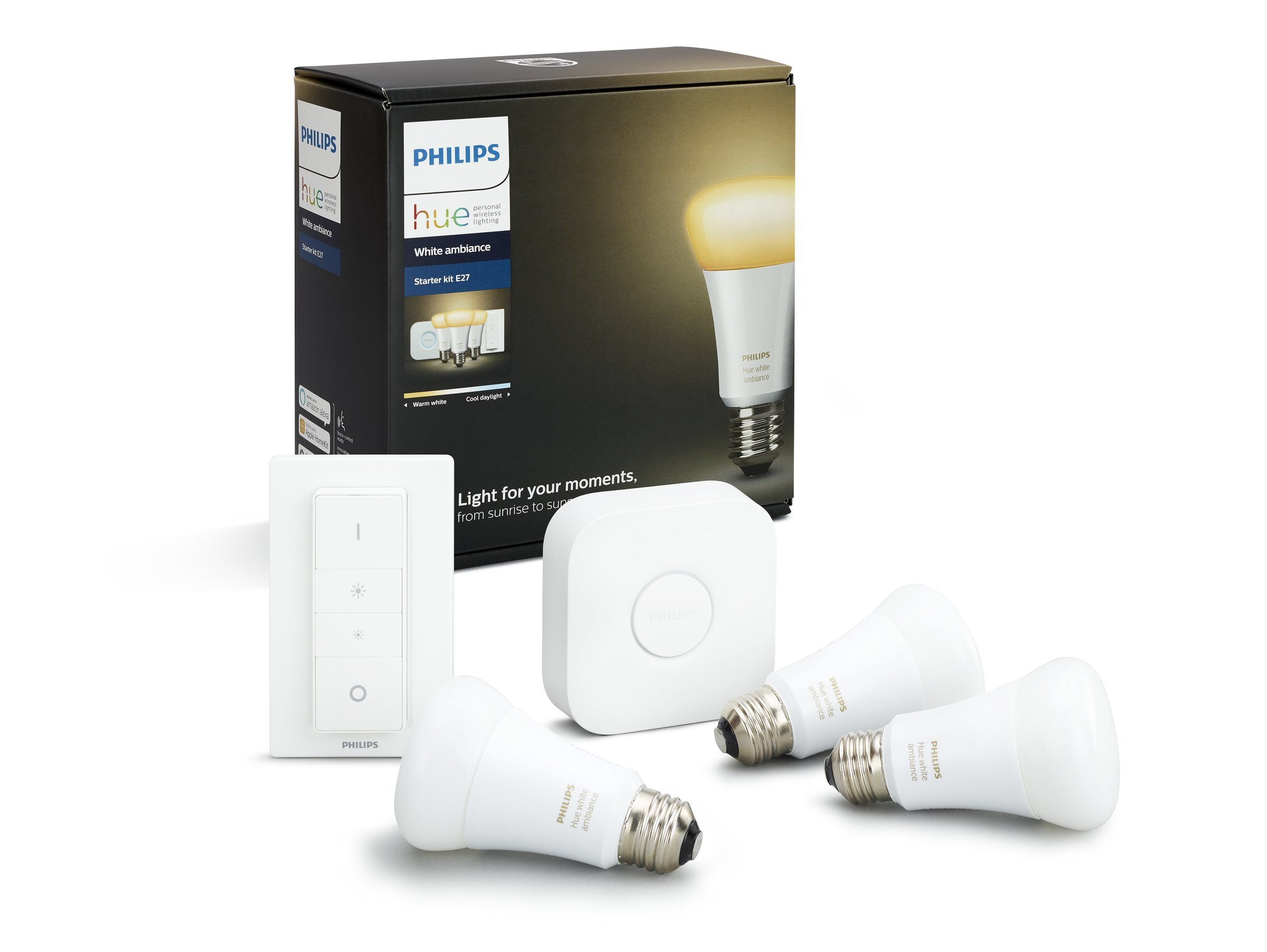 Philips Hue Kit de Démarrage White And Ambiance avec 3 X E27 – 9W