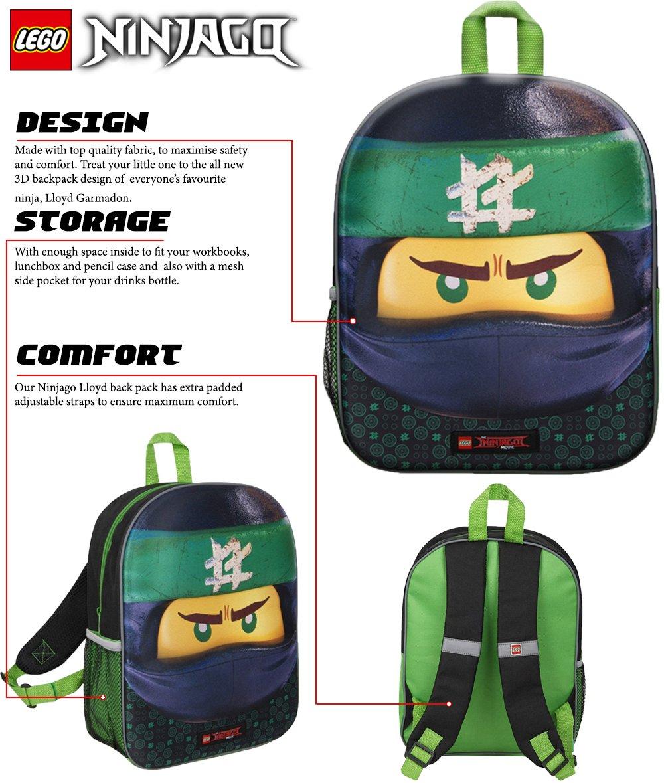 spedizione gratuita 73839 79e22 Zaino Scuola 3D Lego Ninjago per Bambini Zainetto da Viaggio Bambino