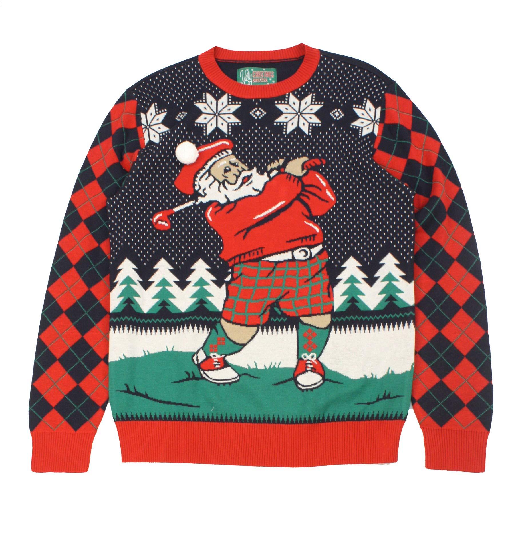 Plus Size Ugly Christmas Sweater.Ugly Christmas Sweater Plus Size Women S Golfing Santa Sweatshirt