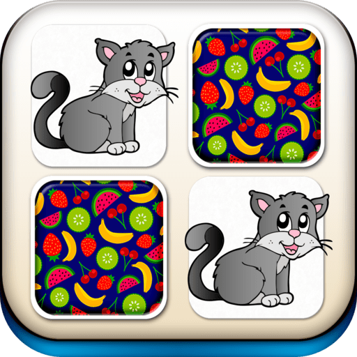 Animals Memory - Fun and Educational Memo Matching Puzzle Game for Preschool or Kindergarten...