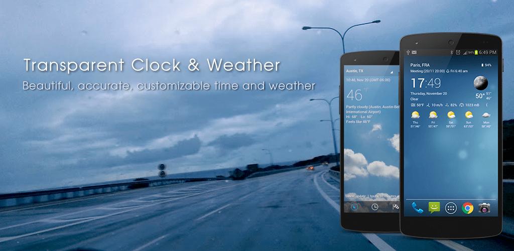 Transparent Clock Weather v3.40.1 [Paid] [Ad-free] [Mod] [Latest]