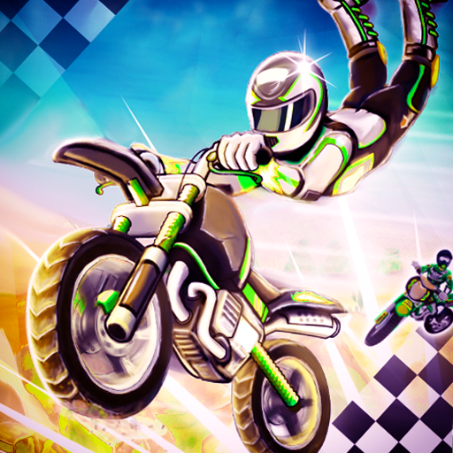 Tricky Light Trail Bike Stunt: Extreme Impossible Ramps Fever