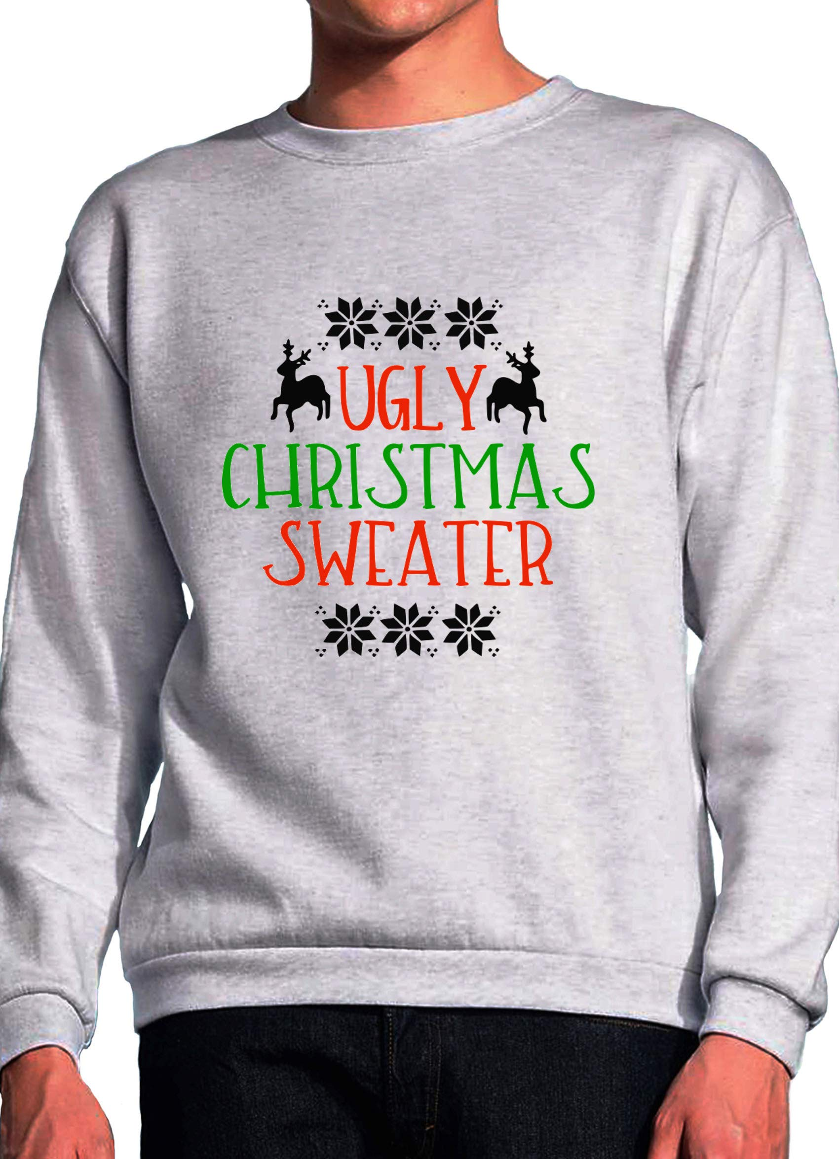 BlackMeow Ugly Christmas Sweater Funny Christmas Deer Quote Design ...