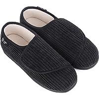 LongBay Women's Wide Fit Memory Foam Diabetic Slippers Comfy Cozy Arthritis Edema House Shoes