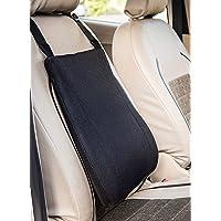 FOVERA Car Backrest Ergonomic Memory Foam Cushion for Comfortable Drive (Black)