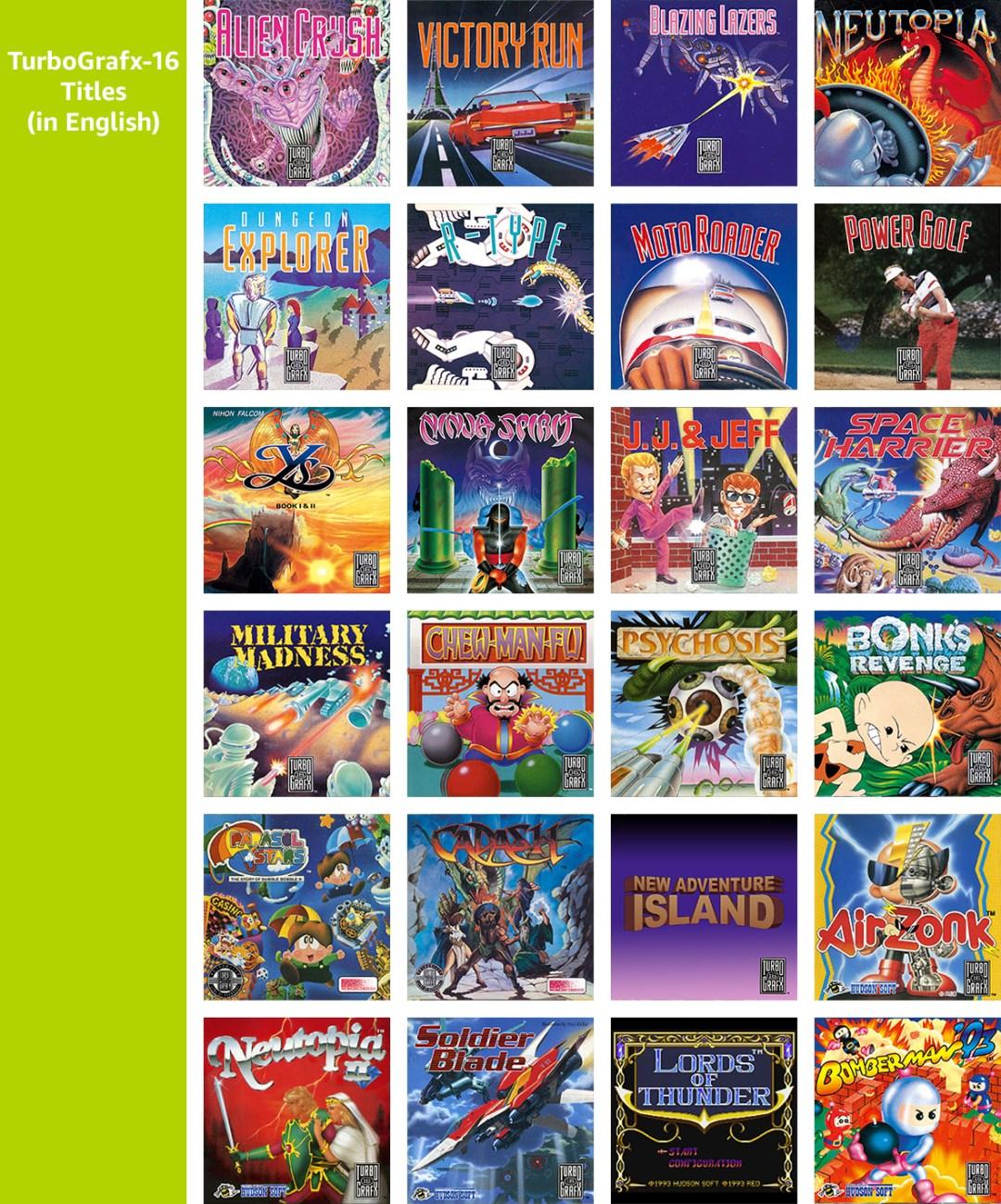 TurboGrafx-16 Titles (in English)