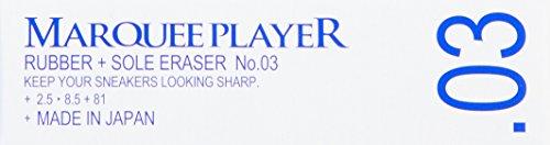 [マーキープレイヤー] ラバーアンドソール消しゴム RUBBER + SOLE ERASER N0.03 25mm x 85mm MP044021 Clear F()