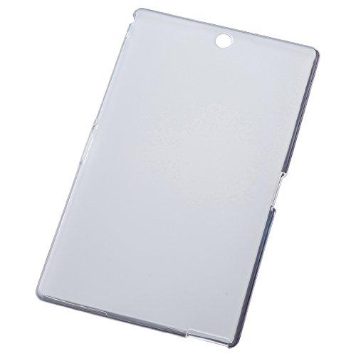 Xperia Z3 Tablet Compact 軽量 60g ソフト カバー ケース シェルジャケット TPU クリアホワイト