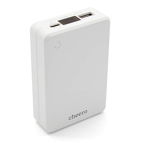 cheero Extra 10000mAh PD 18W 大容量 モバイルバッテリー (パワーデリバリー対応) 2ポート出力 Type-A Type-C 対応機種へ超高速充電 iPhone, Android, Galaxy, AUTO-IC搭載 PSEマーク付 Power Delivery 対応 CtoCケーブル付 デジタルインジケータ CHE-102