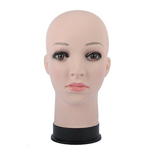 マネキン 頭部 女性 ヘッド メイク練習用 モデル 美容室用 トレーニング ウィッグスタンド 化粧 帽子メガネなど展示用