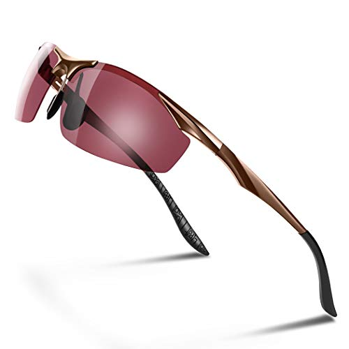 Glazata 偏光スポーツサングラス 釣り用偏光レンズ UV400 紫外線カットフィッシング 『ピンク色』